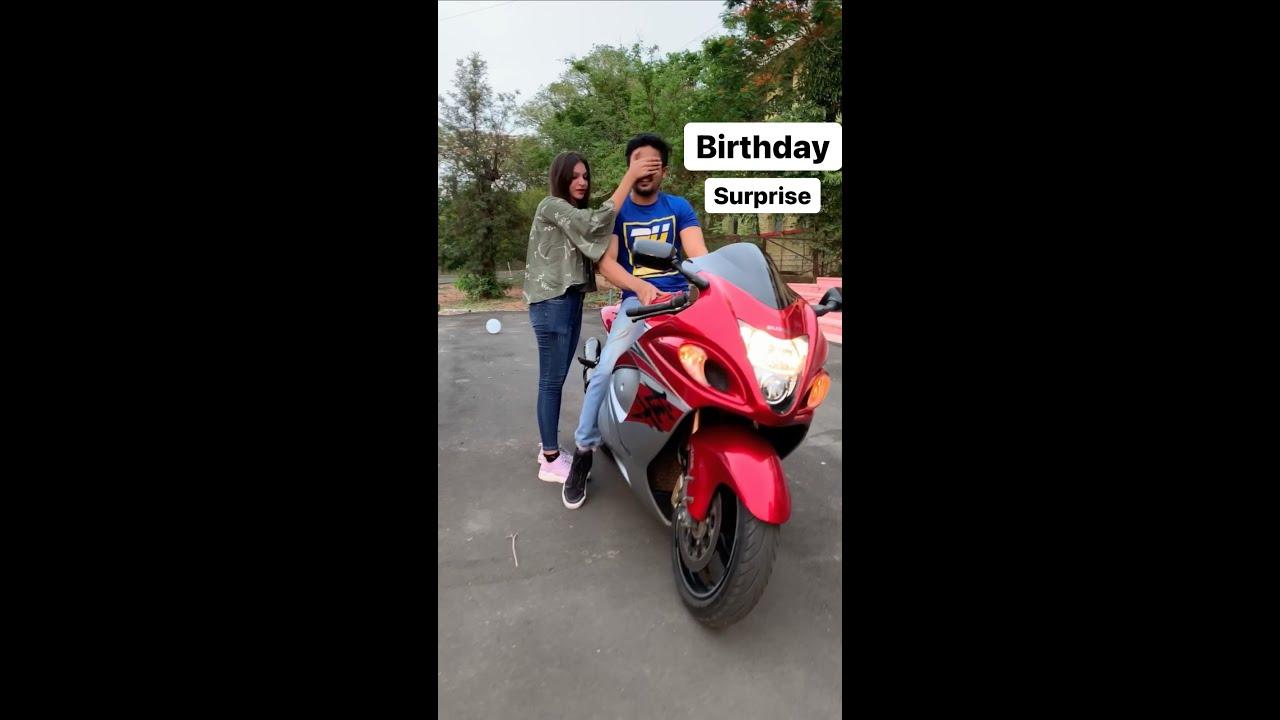 What a birthday surprise 😍 #hayabusa #farazstuntrider #birthdaysurprise