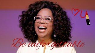 Oprah talks about being Unforgettable ❤