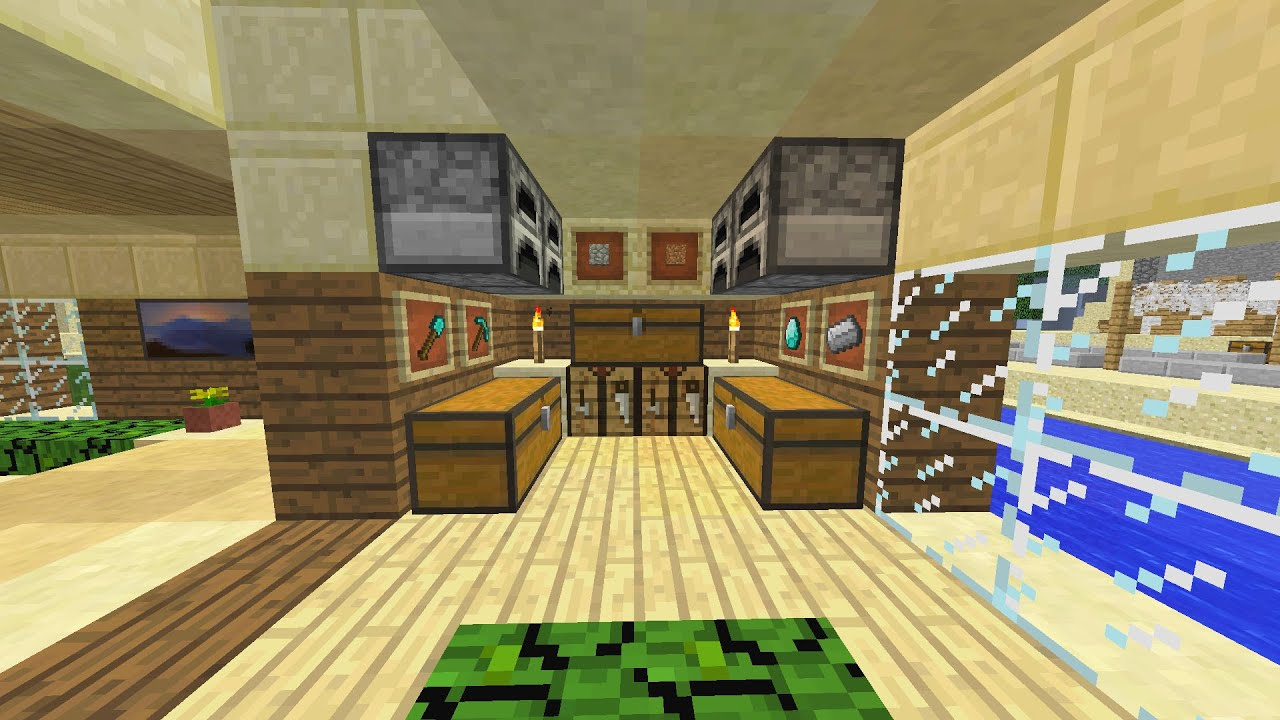 Minecraft Beach House Decoration - YouTube