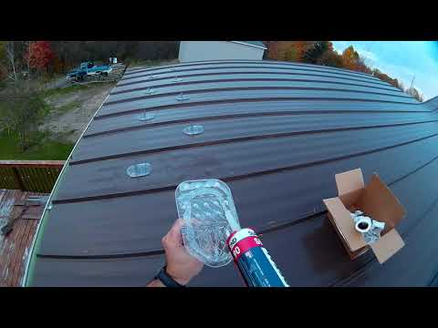 Installing Glacier Snow Guards on Standing Seam Metal roof
