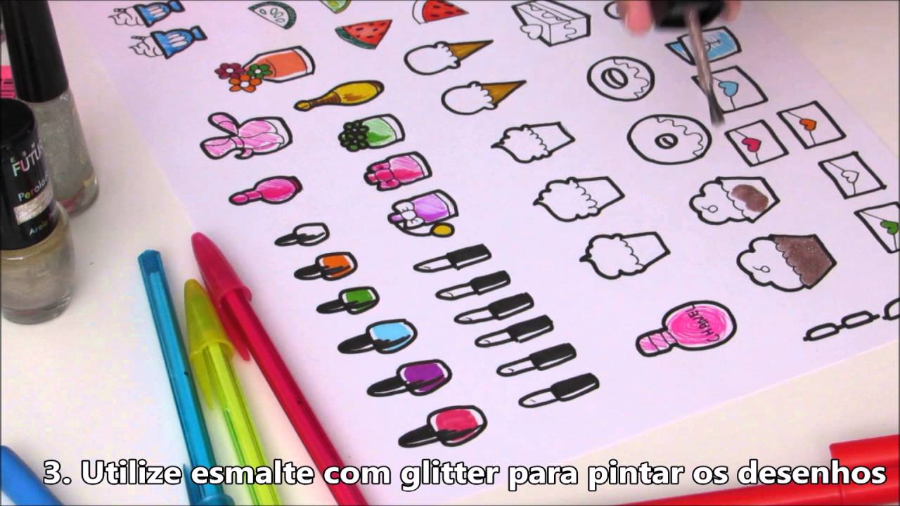 Arte Minha Artesanato São Carlos ~ DIY Como fazer adesivos para Agenda Planner YouTube