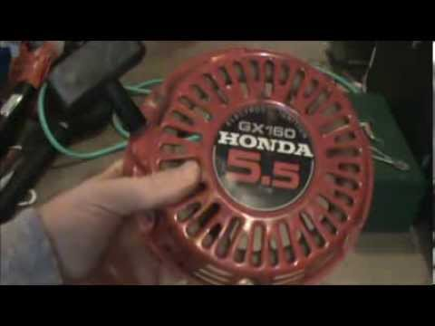 hqdefault honda gx160 pull starter rope repair youtube