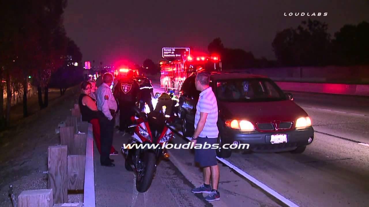 110 Freeway Crash / Harbor Gateway RAW FOOTAGE