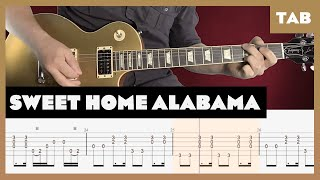Sweet Home Alabama Lynyrd Skynyrd Cover | Guitar Tab | Lesson | Tutorial