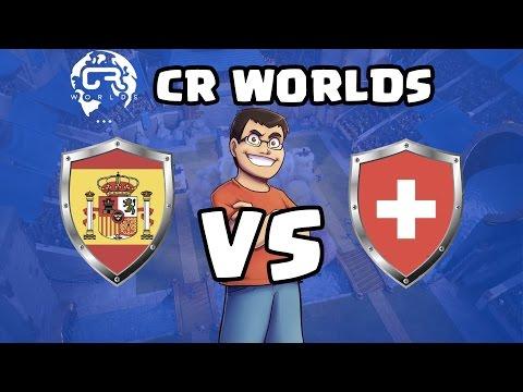 ¡ESPAÑA VS SUIZA! Fase de Grupos | Nos estrenamos en las CR Worlds | Clash Royale con TheAlvaro845