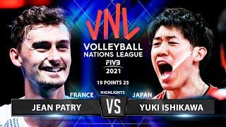 France Vs Japan   VNL 2021   Highlights   Jean Patry Vs Yuki Ishikawa