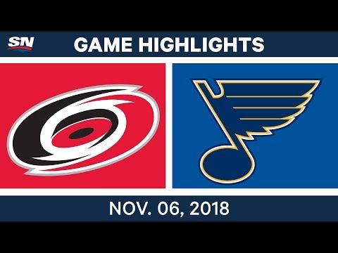 NHL Highlights | Hurricanes vs. Blues – Nov. 6, 2018