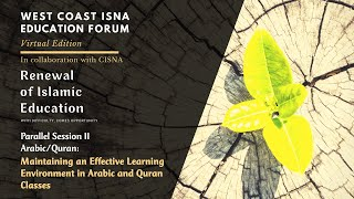 WCIEF - Maintaining an Effective Learning Environments in Arabic and Quran Classes