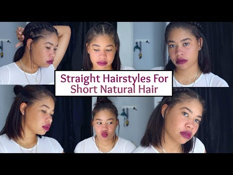 Straight Hairstyles On Natural Hair | Masala Shalexis