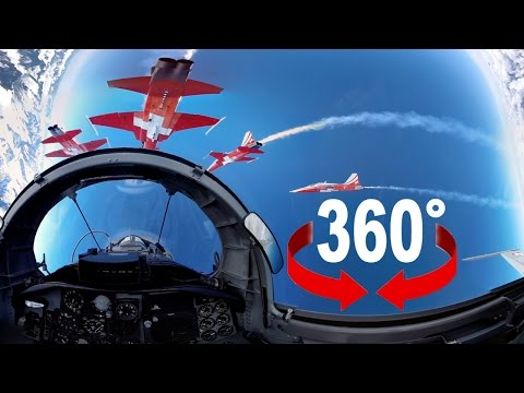 Fighter jet | Takeoff and formation flight | Swiss Air Force I 360 video