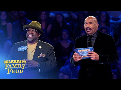 Cedric the Entertainer crushes Fast Money! | Celebrity Family Feud