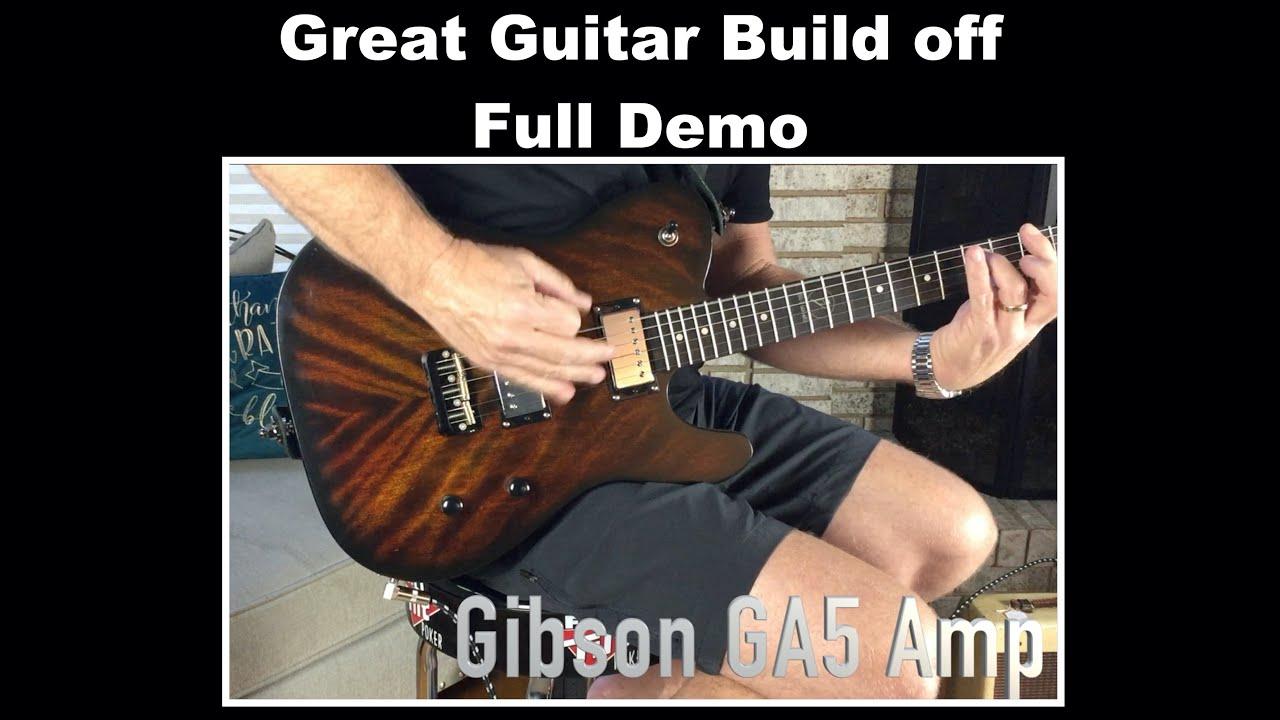 Great Guitar Build off - Full Demo - Bigdguitars