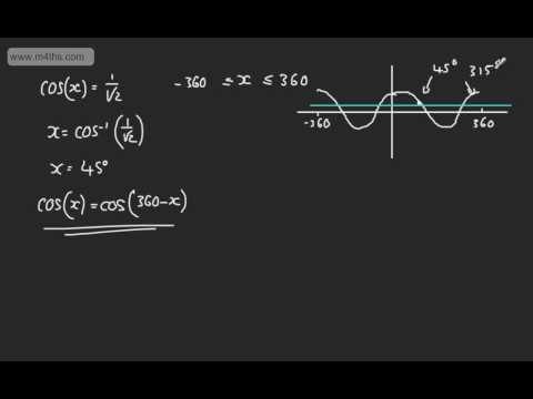 Core 2 - Trigonometrical Identities & Equations (2) - Solving Basic Equations C2 Trigonometry