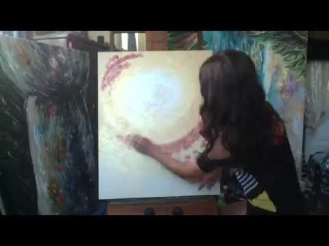 Latte Stone (Guam art) Painting Time Lapse by Michelle Pier