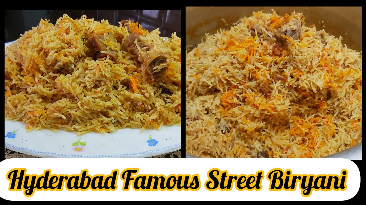 Street Biryani  -  Hyderabad famous -  Hyderabadi Biryani  - street food of Hyderabad