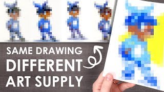 SAME DRAWING, DIFFERENT MEDIUM - How Art Supplies Change Your Style