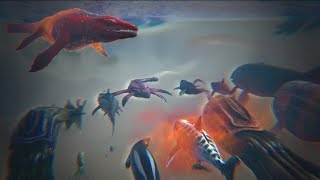 Alpha Mosasaurus vs ALL OTHER Water Creatures    Cantex