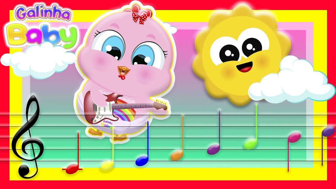 As 7 Notas Musicais - Clipe Oficial Gospel - Galinha Baby (Música Infantil)