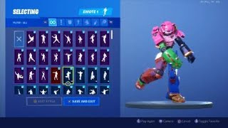 Mecha tea leader skin showcase fortnite battle royal