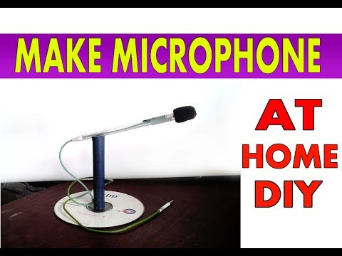 How to make Mini Microphone with stand - DIY HD Microphone