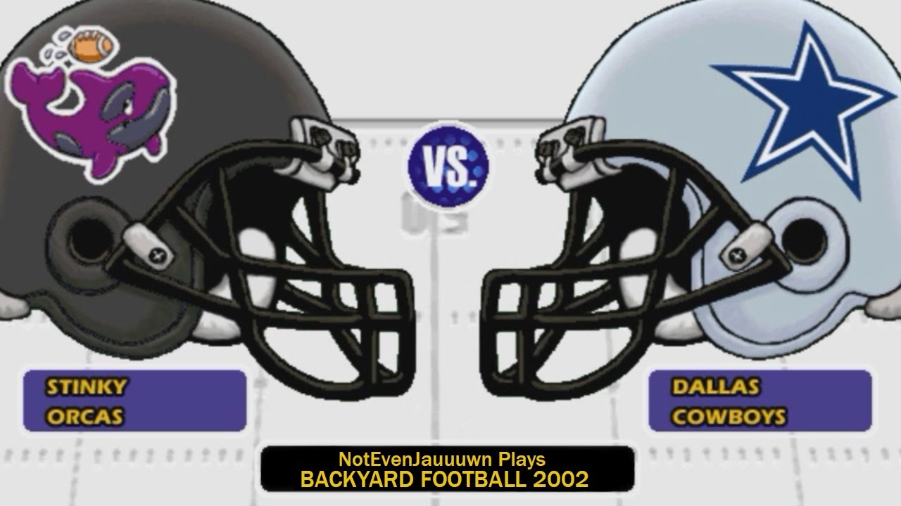game 10 of backyard football 2002 dallas cowboys vs stinky orcas