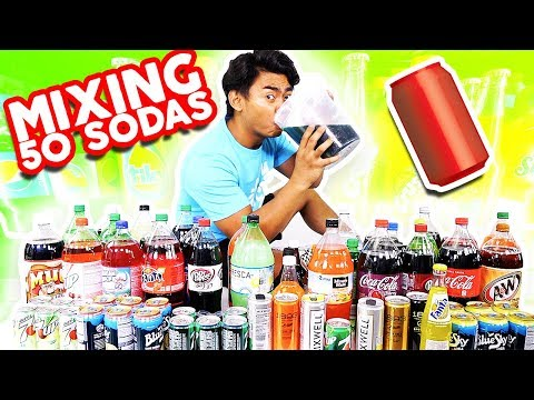 Mixing All My 50 Sodas Together and Drinking It!