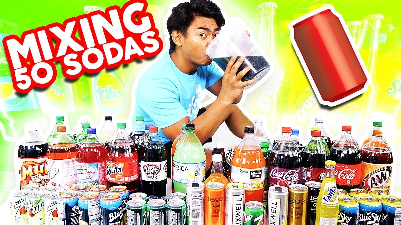 Download Mixing All My 50 Sodas Together and Drinking It!