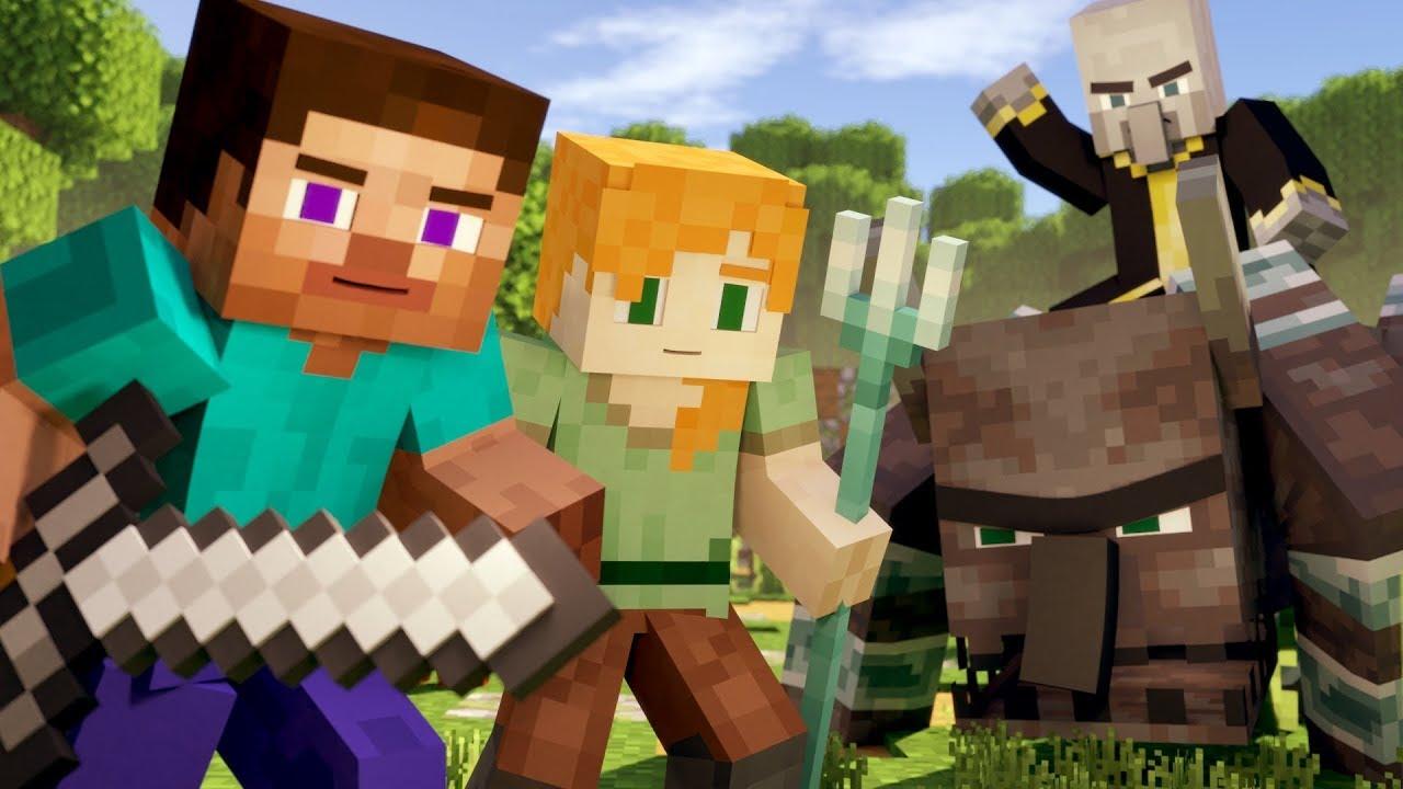 Download VILLAGE RAID - Alex and Steve Life (Minecraft Animation)