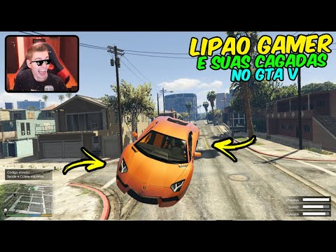 GTA 5 – TOP CAGADAS E MITAGENS DO LIPAO GAMER #03