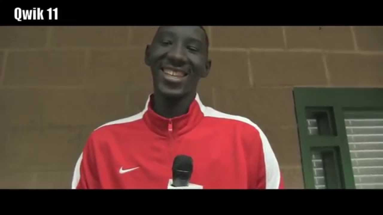 "EYBL Peach Jam 2014 Elhadji ""Tacko"" Fall 7""6' Tallest man ..."