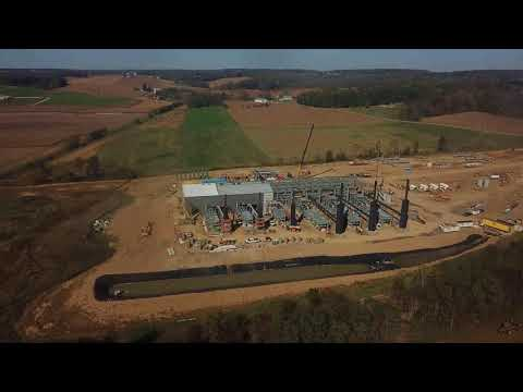 Rover Pipeline's  CS-2 Compressor Construction outside Wooster, Ohio