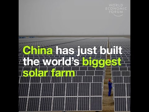 China has just built the world's biggest solar farm