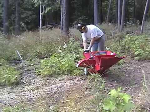 Mtd 5hp Chipper Shredder In Action