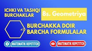 1. Ko'pburchak ichki va tashqi burchaklari. (Geometriya 8 sinf)