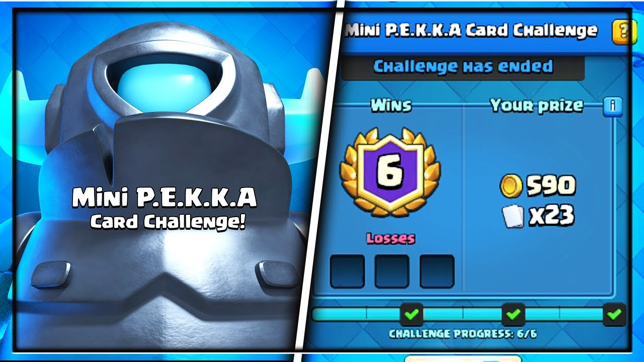 Best Deck For Quot Mini Pekka Card Challenge Quot In Clash Royale