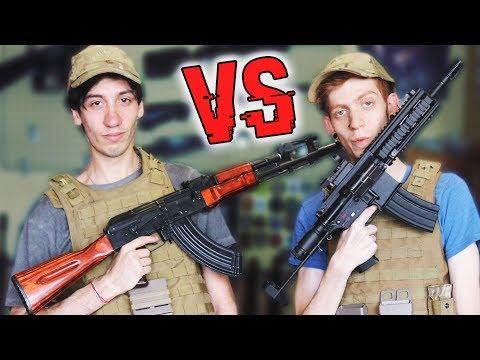 ¡¡¡ AK-47 VS M16 !!!   QUIEN MUERE ?