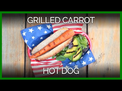 Grilled Carrot Hot Dog