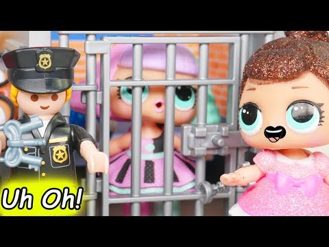 Thumbnail: L.O.L. Surprise! Dolls Locked Up in Jail Rescue Game Jealous Glitter Pranksta Lil Sisters Unboxed!