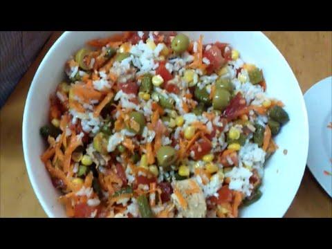 Ensalada de arroz ensaladas de verano cocinando y m s - Ensalada de arroz light ...