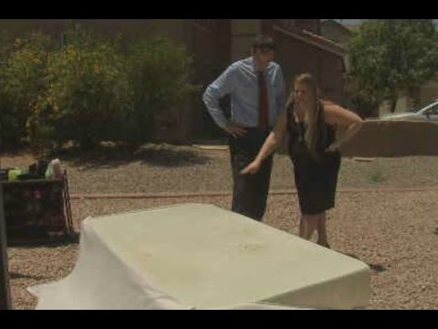 Family forced to leave home over fiberglass mattress cover