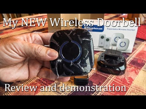 CrossPoint Wireless Doorbell System by SadoTech 600 foot range 52 different sounds How To Setup