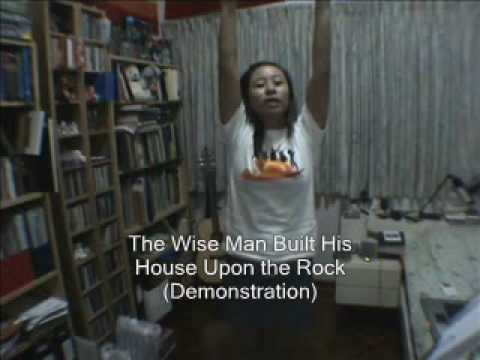 The Wise Man Built His House Upon The Rock Demonstration Youtube