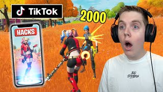 Testing *SECRET* TikTok Life Hacks In Fortnite... (THEY WORK!)