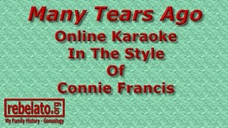 Many Tears Ago - Connie Francis - Online Karaoke Version