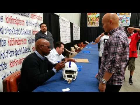 Eric Dickerson Signing my 1988 Indianapolis Colts helmet. (Frank & Sons Collecible Show, Walnut, CA)