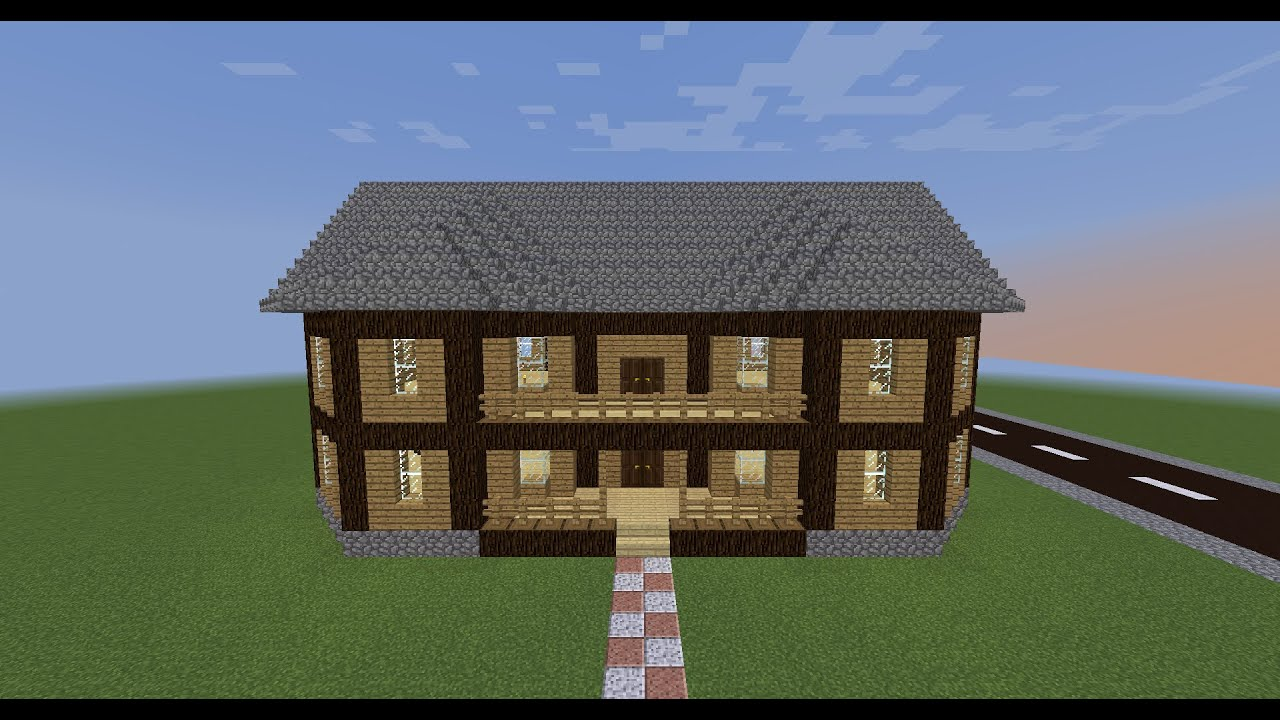 Minecraft Tutorial - come costruire una casa di legno - YouTube