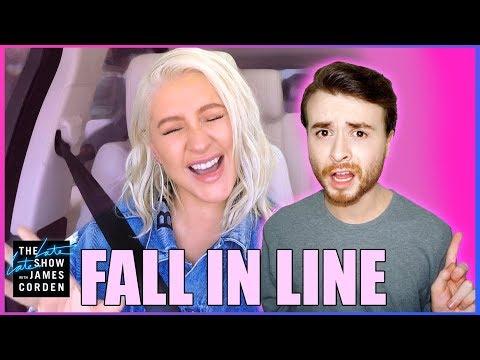 CHRISTINA AGUILERA X6 'Fall In Line' Carpool Karaoke Bonus REACTION
