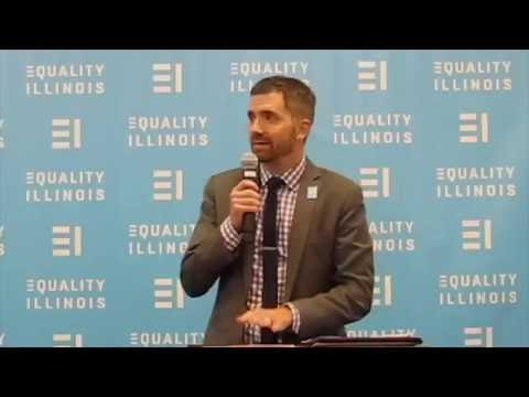 Equality Illinois CEO Brian C. Johnson at the 2016 Pride  Reception
