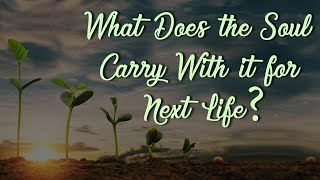 What Does the Soul Carry With it for Next Life?