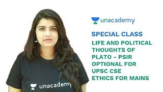 Special Class - Life and Political Thoughts of Plato - PSIR Optional for UPSC CSE - Ashna Sisodia